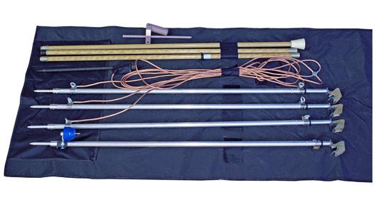 Заземление переносное для воздушных линий ЗПЛ-10/З(с указателем УВНБУ-1)